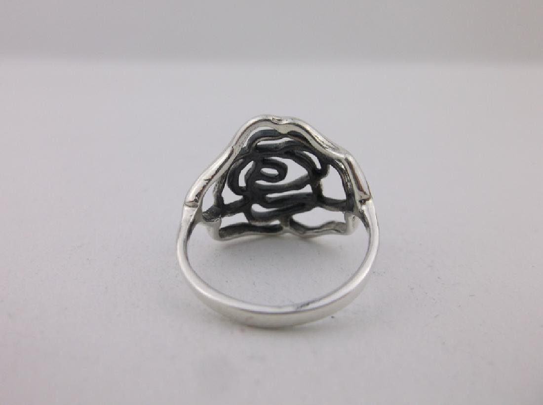 Stunning Sterling Silver Rose Ring 5 - 2
