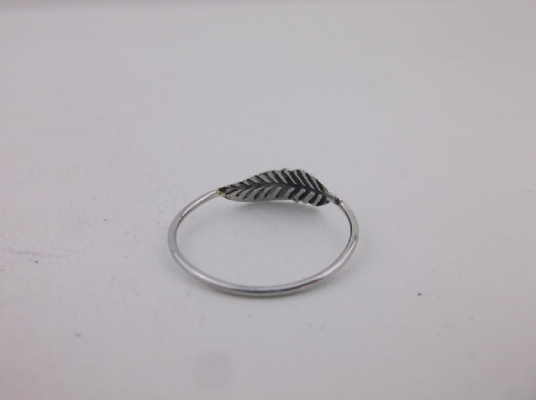 Stunning Sterling Silver Simple Feather Ring 7 - 2