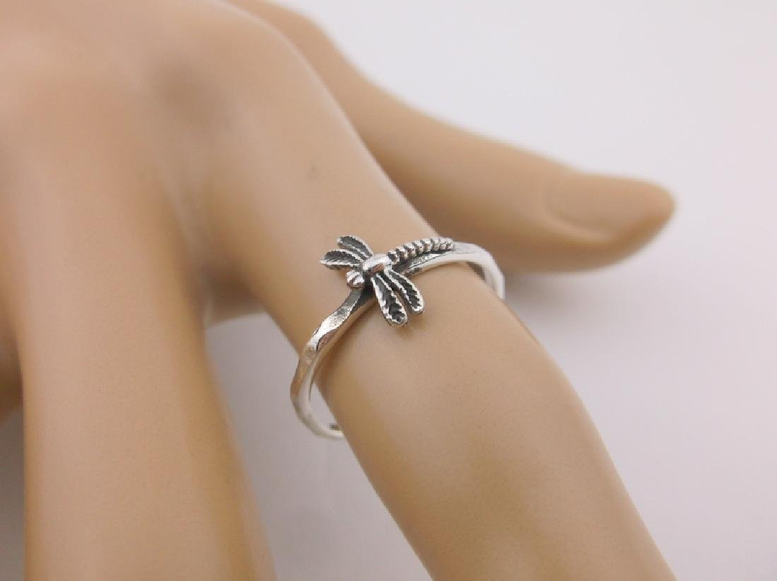 Stunning Sterling Silver Dragonfly Ring 7