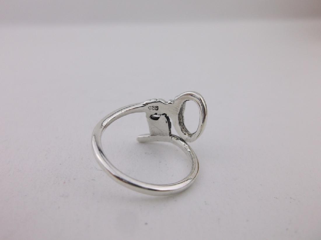 Stunning Sterling Silver Key Wrap Ring 5 - 2