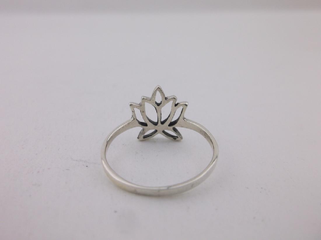 Stunning Sterling Silver Blooming Lotus Ring 7 - 2