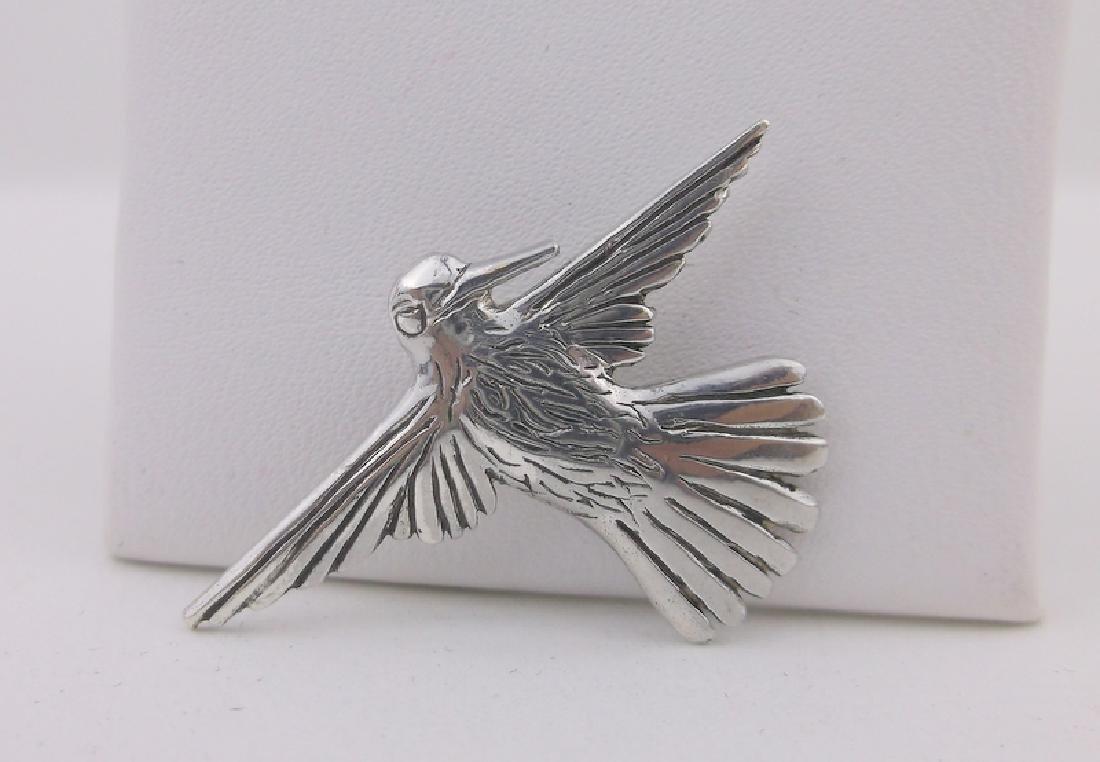 Stunning JRC Tane Sterling Sparrow Pendant Antique