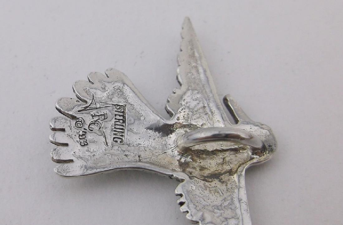 Stunning JRC Tane Sterling Sparrow Pendant Antique - 2