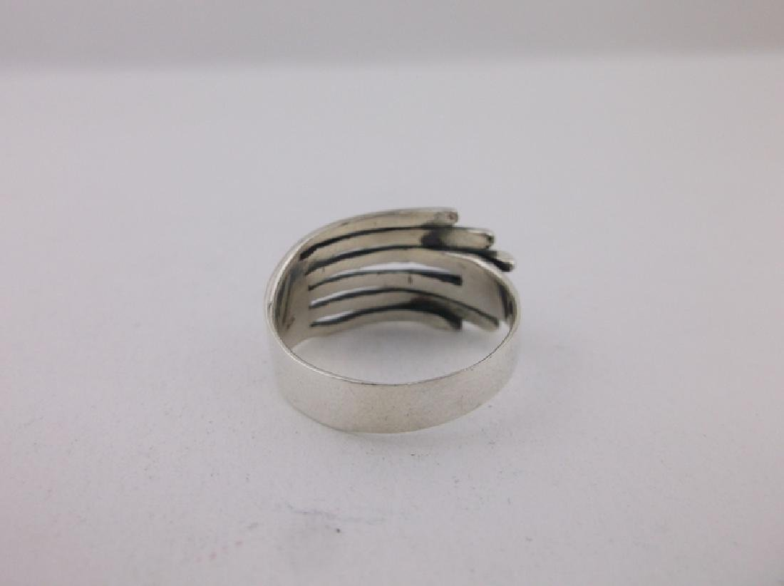 Stunning Sterling Silver Wing Tip Ring 9 - 2