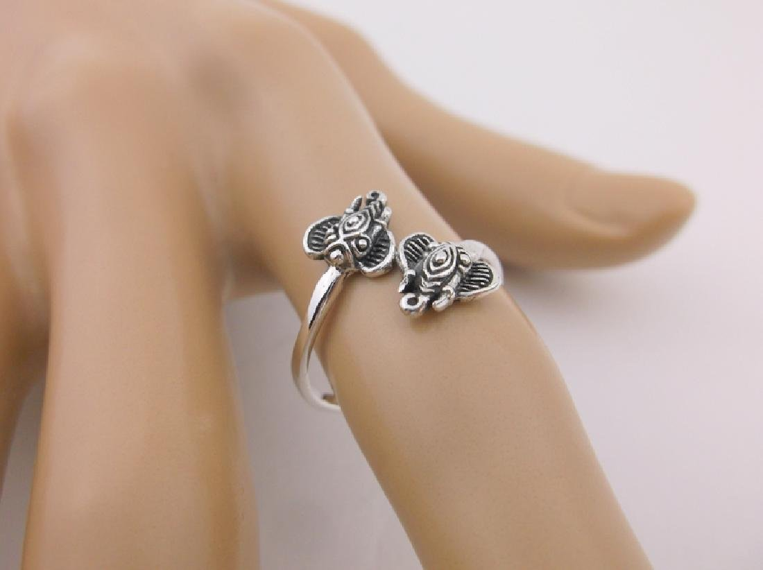 Stunning Sterling Silver Bali Elephant Wrap Ring 7
