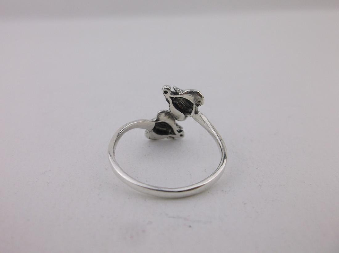 Stunning Sterling Silver Bali Elephant Wrap Ring 7 - 2