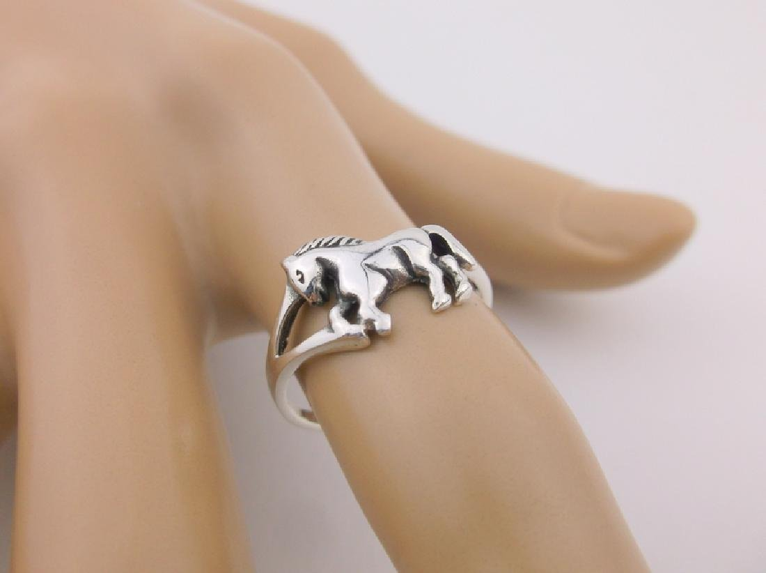 Stunning Sterling Silver Horse Ring 6