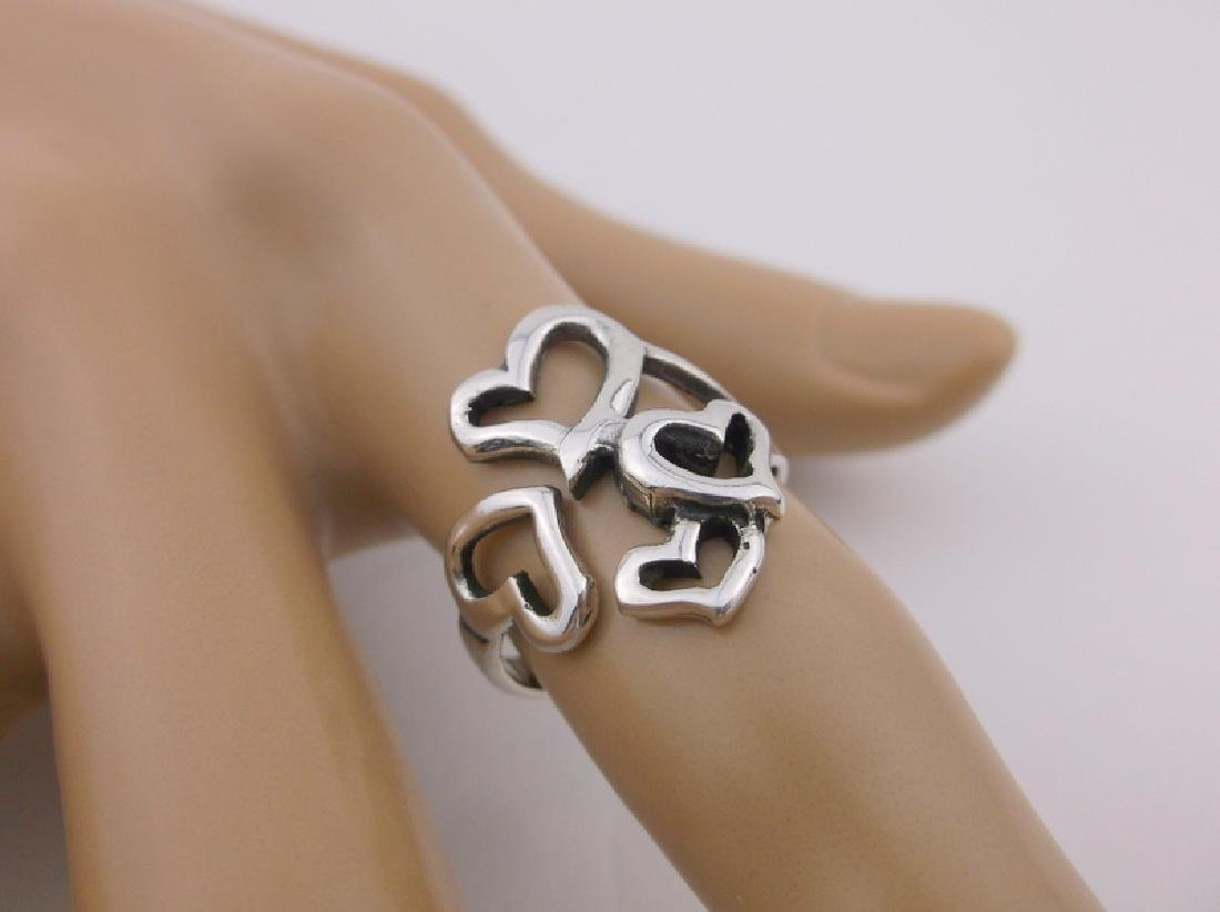 Stunning Sterling Silver Heart Wrap Ring 6