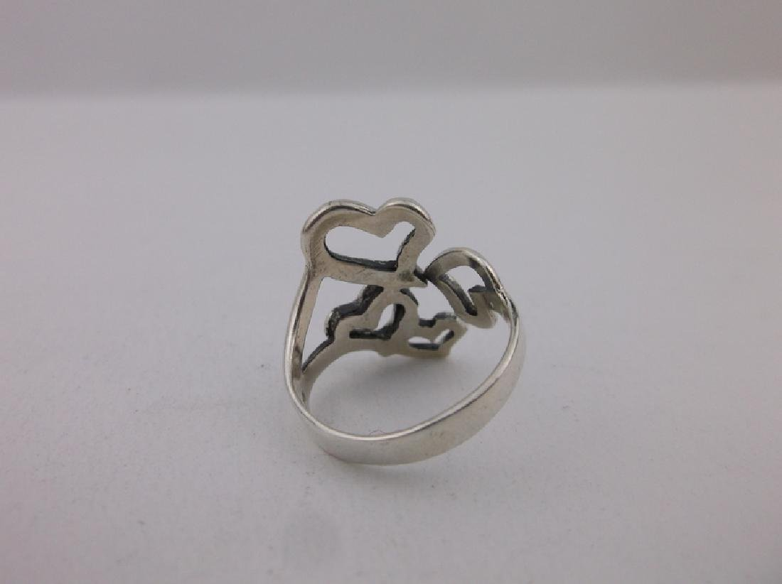 Stunning Sterling Silver Heart Wrap Ring 6 - 2
