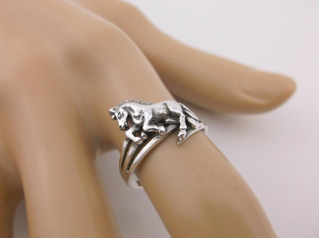 Stunning Sterling Silver Western Horse Ring 7