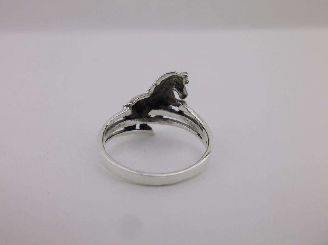 Stunning Sterling Silver Western Horse Ring 7 - 2