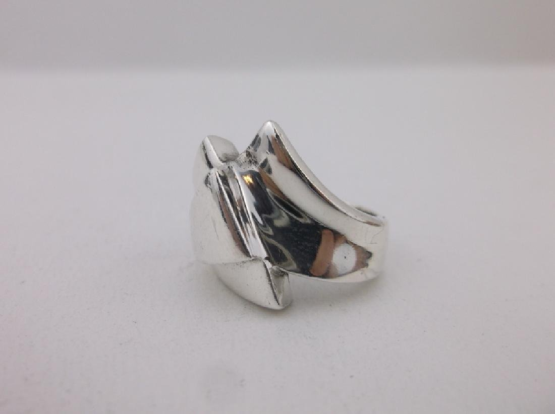 Gorgeous Heavy Sterling Silver Design Ring 7 - 2