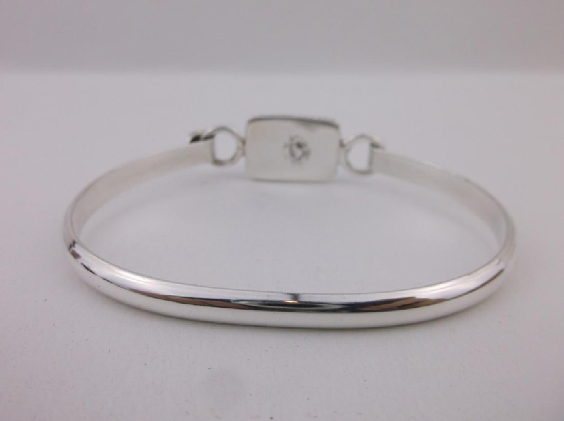 Stunning Heavy Sterling Silver Lapis Bracelet - 2