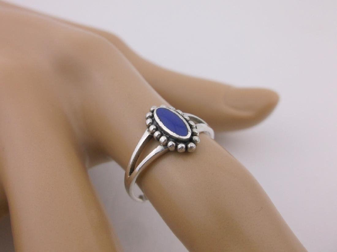 Stunning Sterling Silver Lapis Ring 7