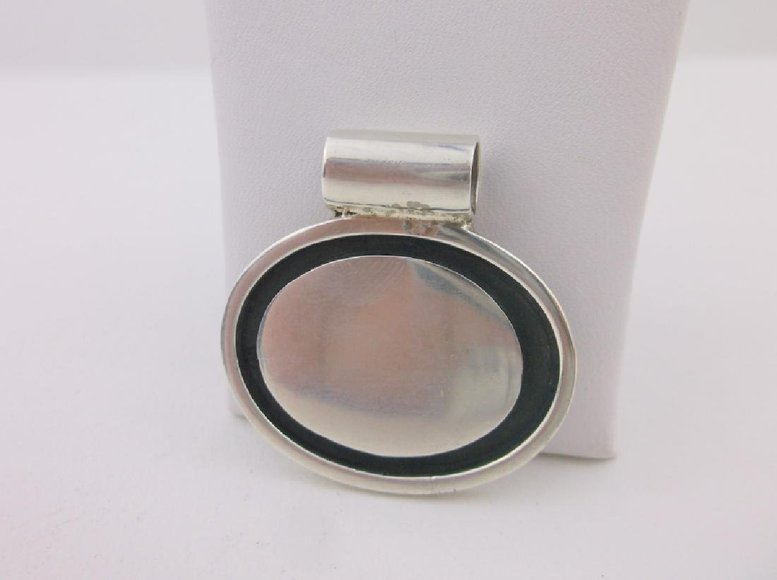 Gorgeous Sterling Silver Pendant Heavy Thick