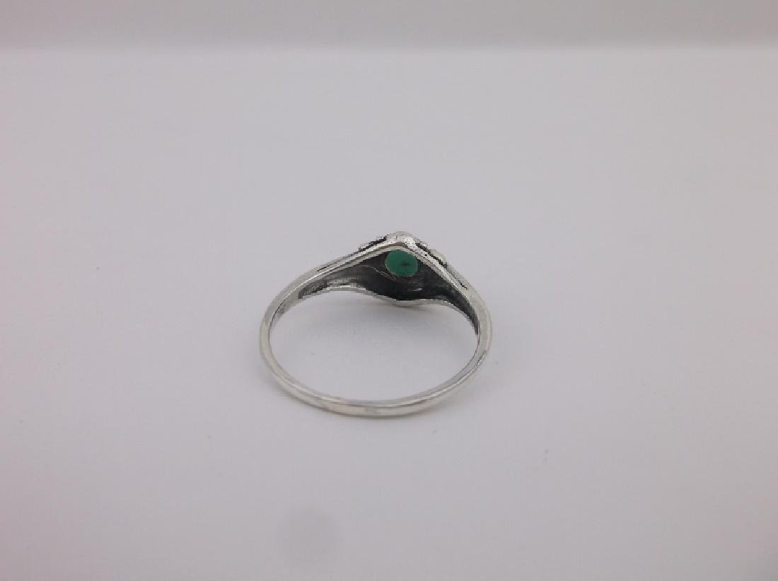 Stunning Sterling Silver Turquoise Ring 7 - 2