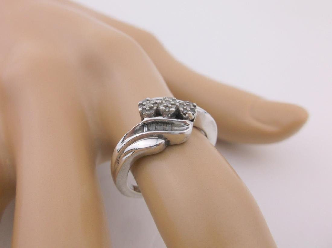 Gorg Sterling Silver Diamond Engagement Ring 6.5