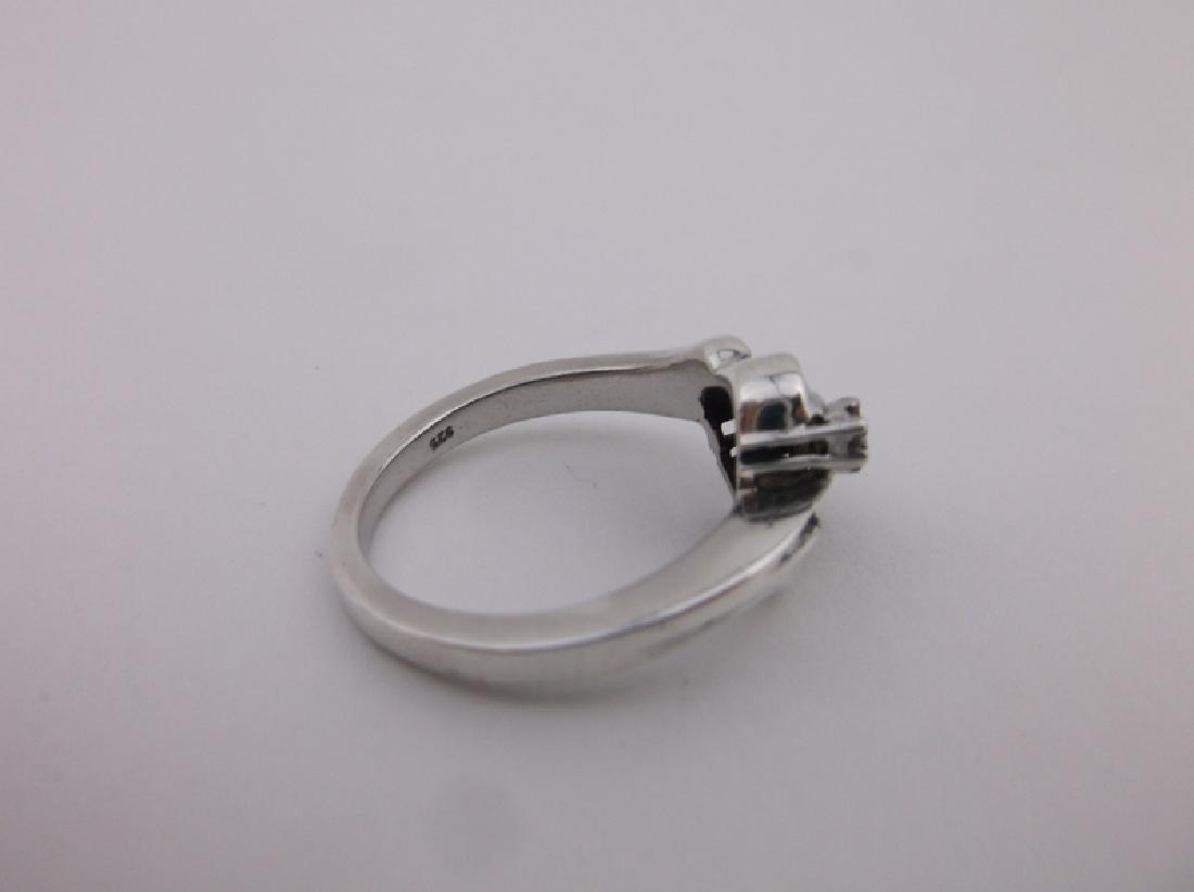 Gorg Sterling Silver Diamond Engagement Ring 6.5 - 2