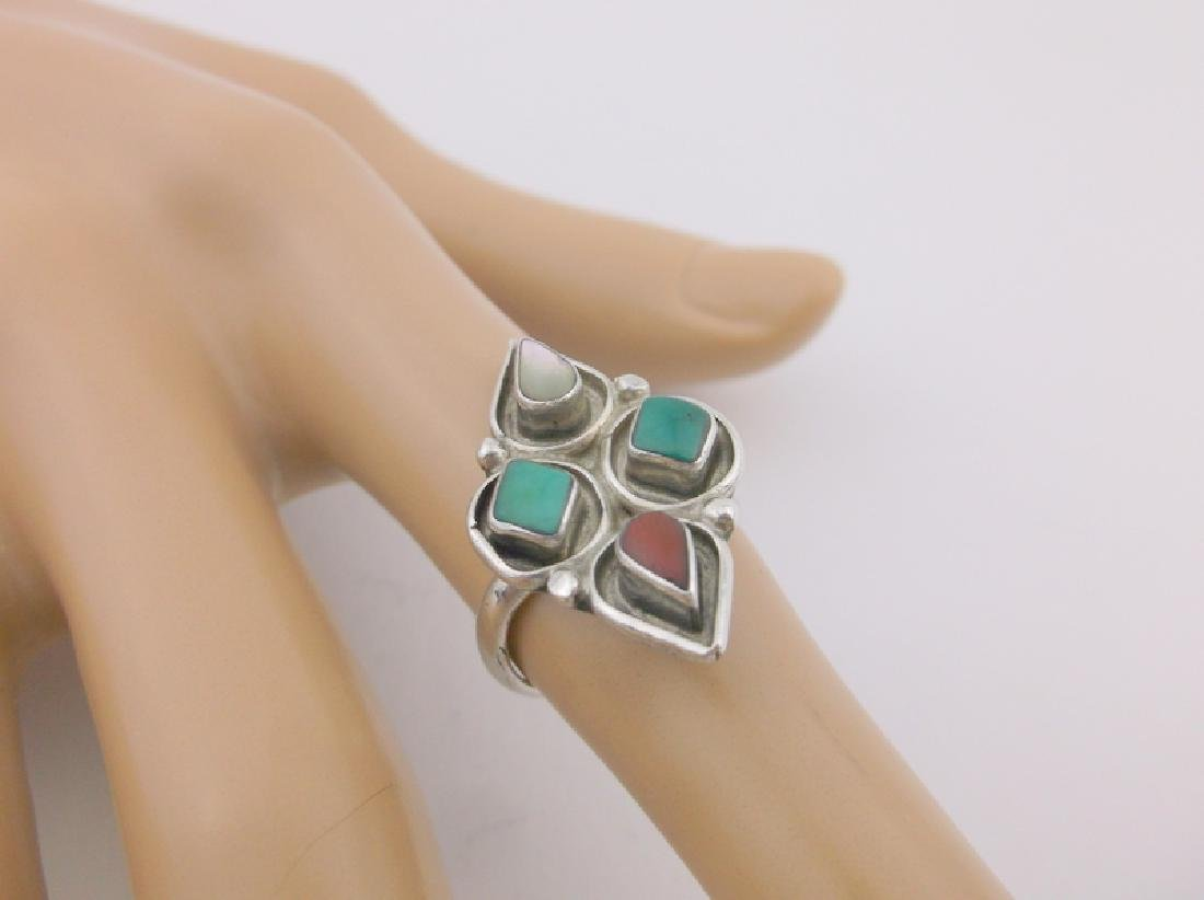 Jimmie Etsate Zuni Sterling Turquoise Ring 5 Gorgeous