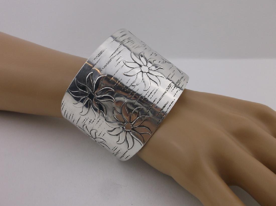 Huge Francisco Rebajes Sterling Cuff Bracelet Stunning - 2