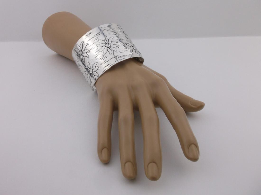 Huge Francisco Rebajes Sterling Cuff Bracelet Stunning - 3