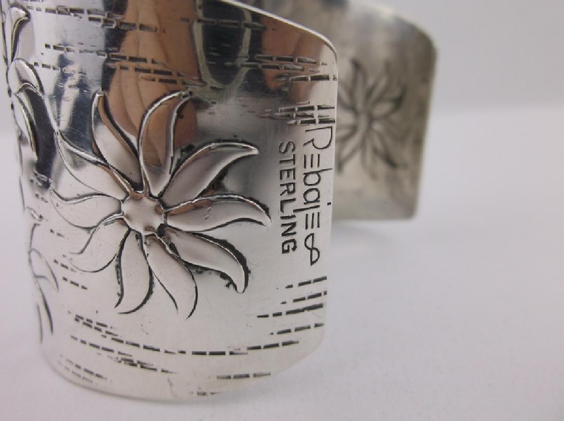 Huge Francisco Rebajes Sterling Cuff Bracelet Stunning - 5