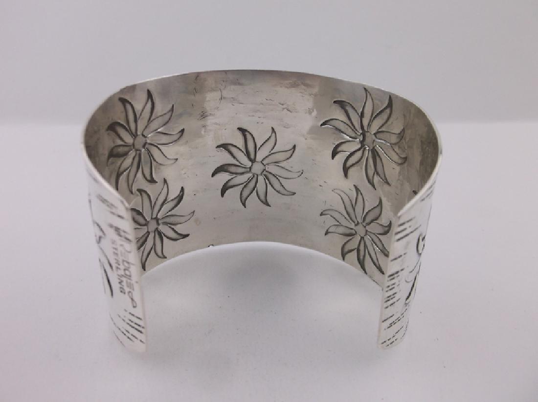 Huge Francisco Rebajes Sterling Cuff Bracelet Stunning - 6