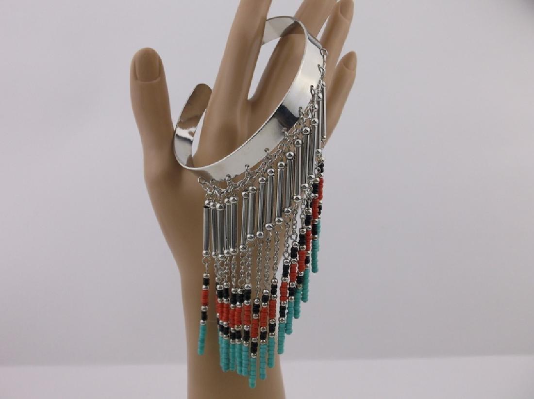 Stunning Southwestern Dangly Arm Cuff - 2
