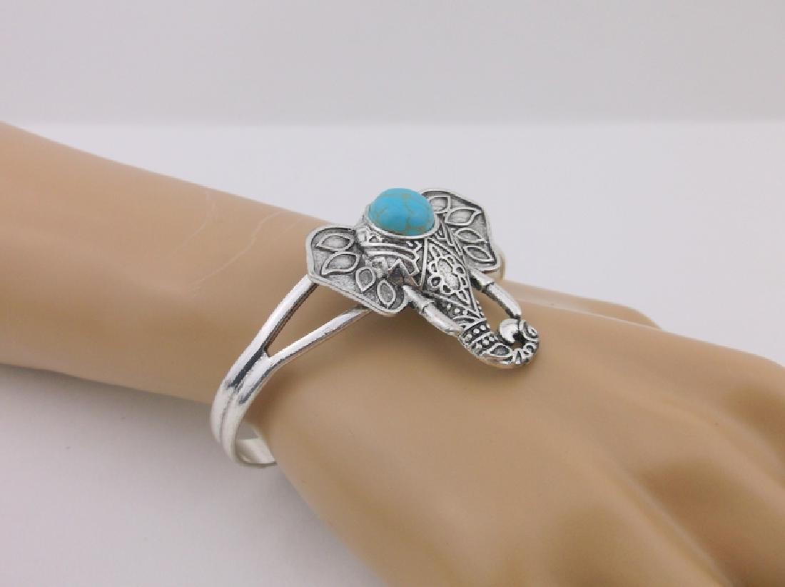 Stunning Turquoise Elephant Cuff Bracelet