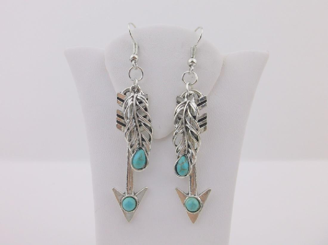 Stunning Southwestern Turquoise Earrings Arrow