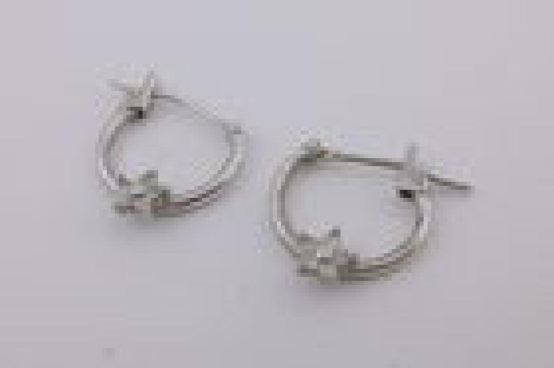 Gorgeous 10kt White Gold Hoop Earrings
