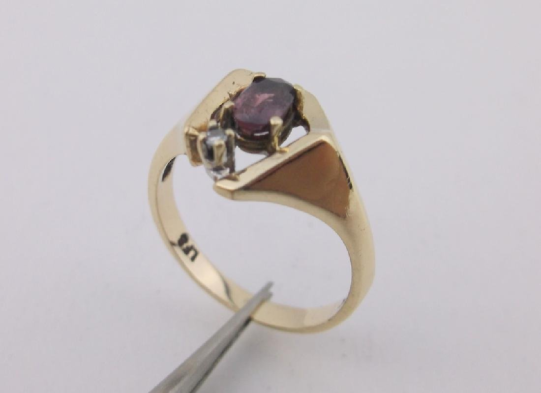 Stunning 10kt Gold Diamond Ruby Ring 5