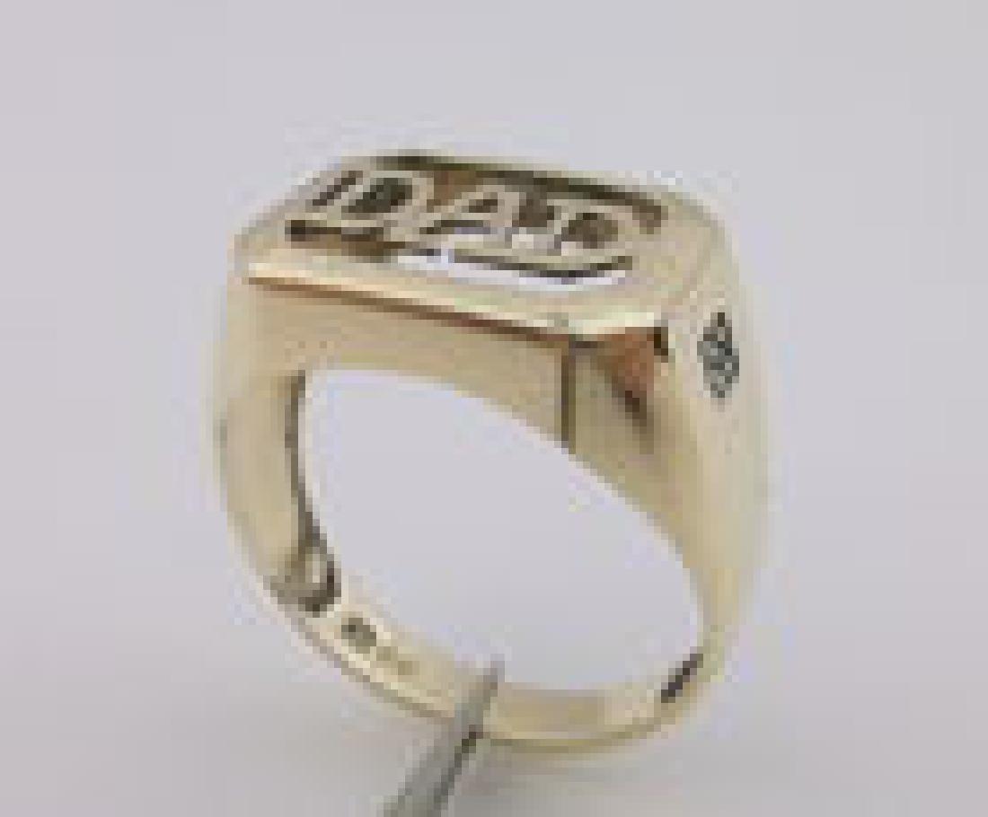 Stunning 10kt Gold Diamond Dad Ring 10 Heavy