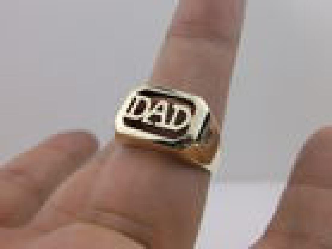Stunning 10kt Gold Diamond Dad Ring 10 Heavy - 2