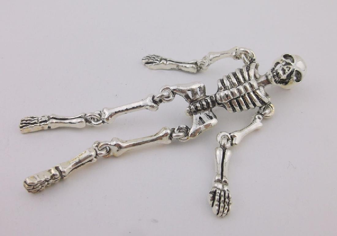 Stunning Large Moving Skeleton Brooch