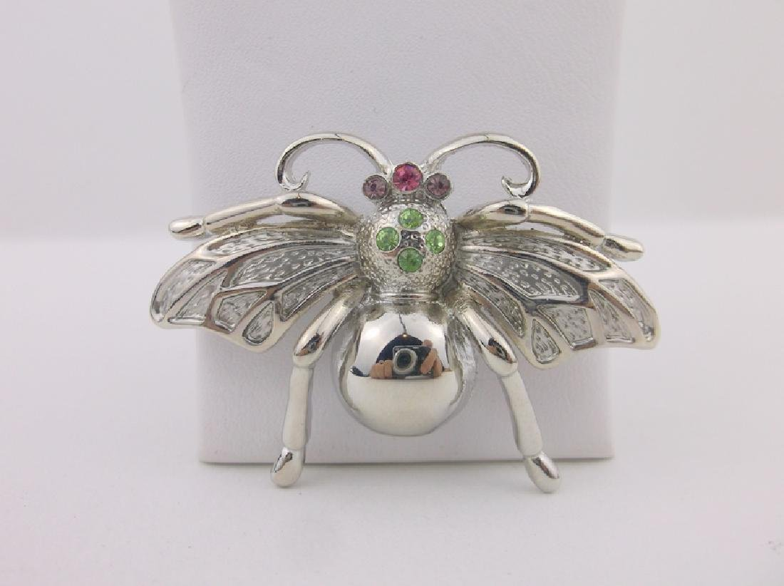Stunning Rhinestone Insect Brooch