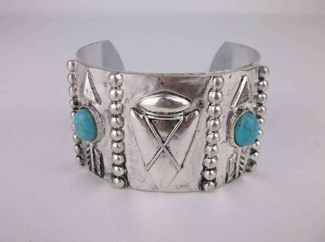 Southwestern Turquoise Arrowhead Cuff Bracelet Stunning