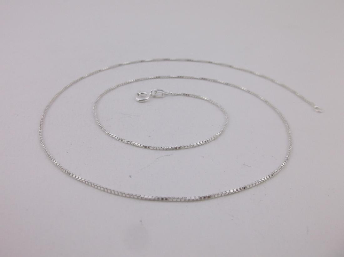 New Sterling Silver Box Chain Necklace 18""