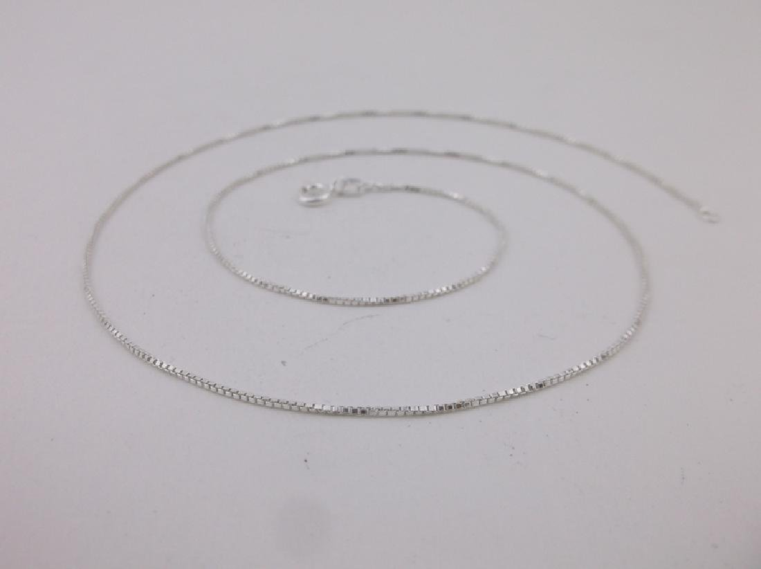 """New Sterling Silver Box Chain Necklace 18"""""""