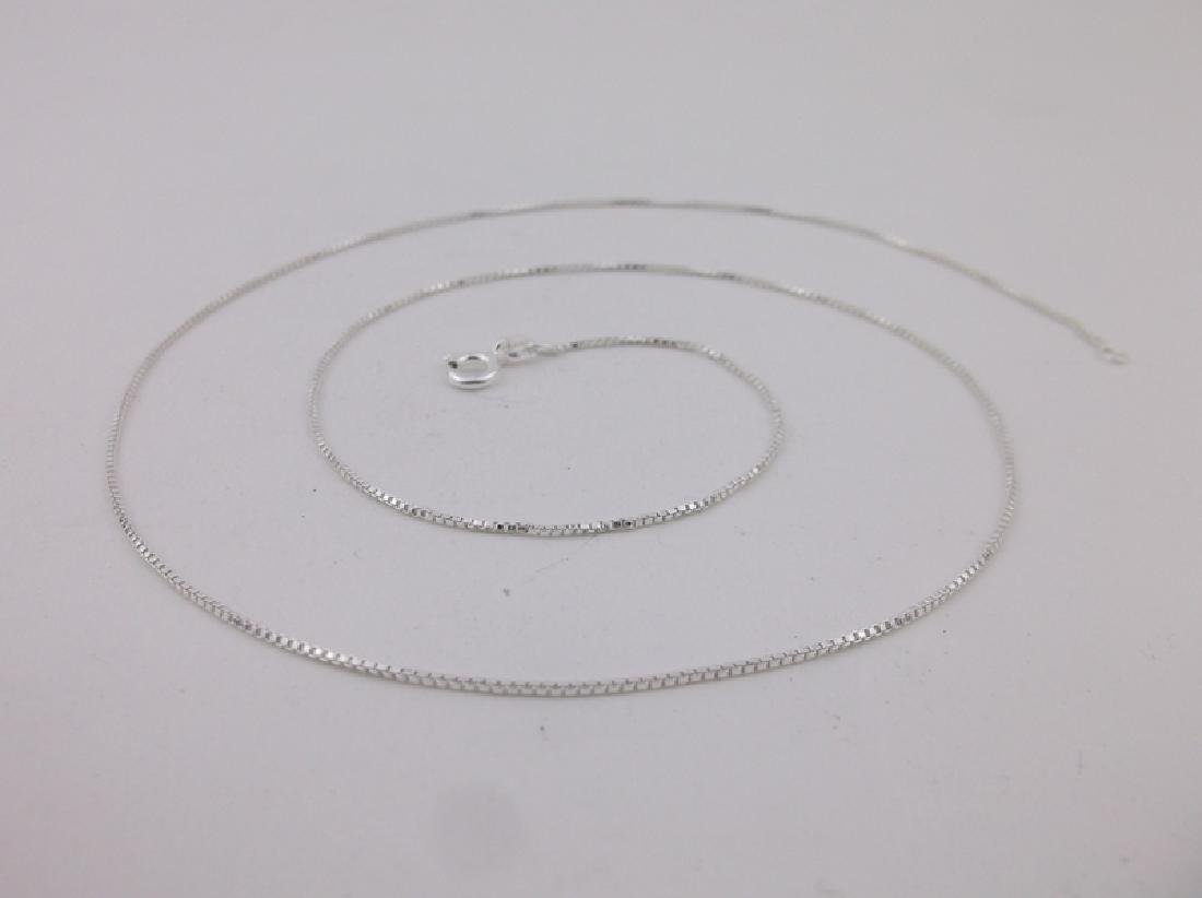 """New Sterling Silver Box Chain Necklace 20"""""""