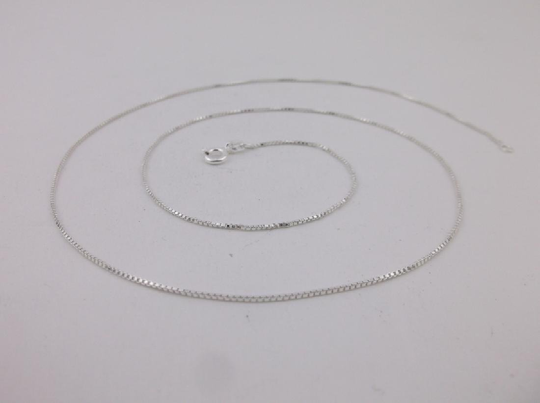 New Sterling Silver Box Chain Necklace 20""