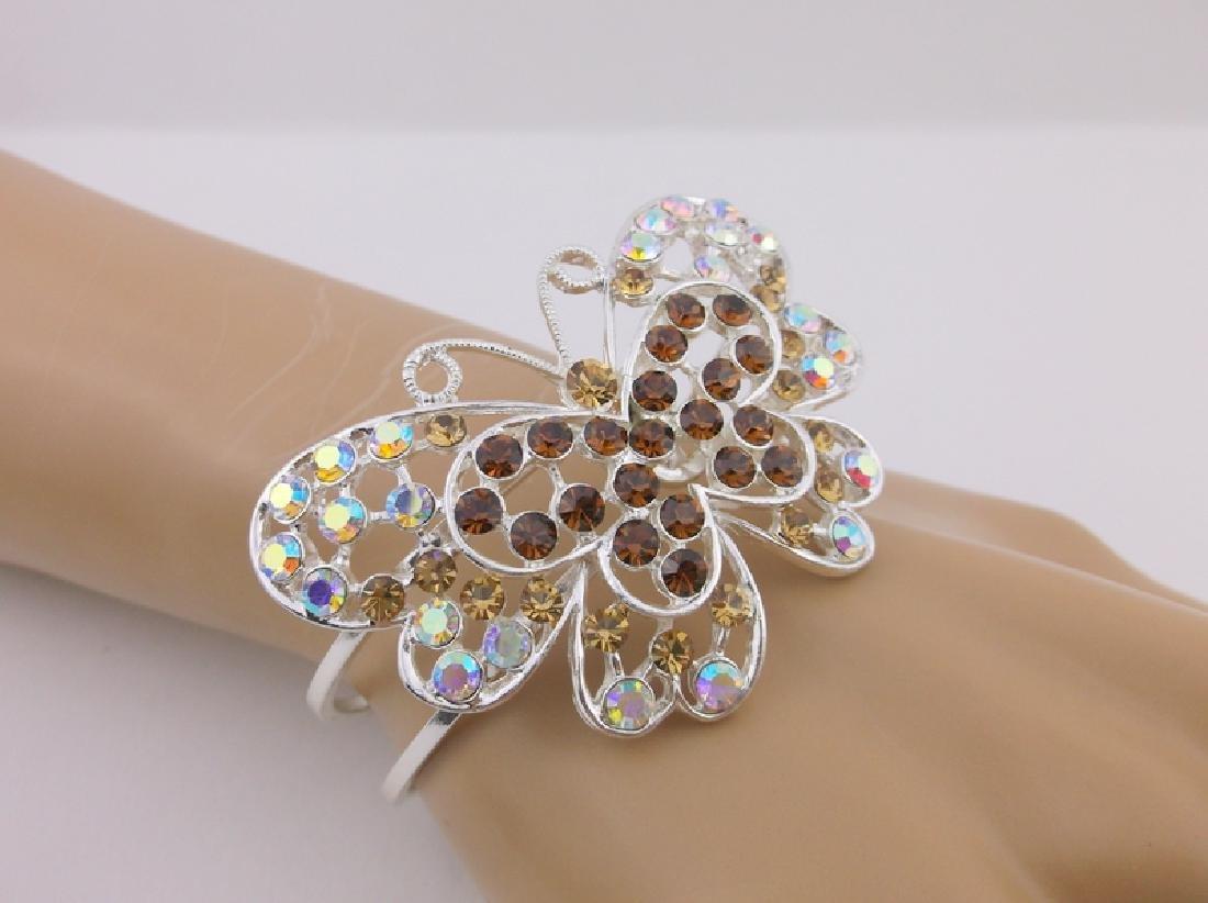 Stunning Rhinestone Butterfly Bracelet large