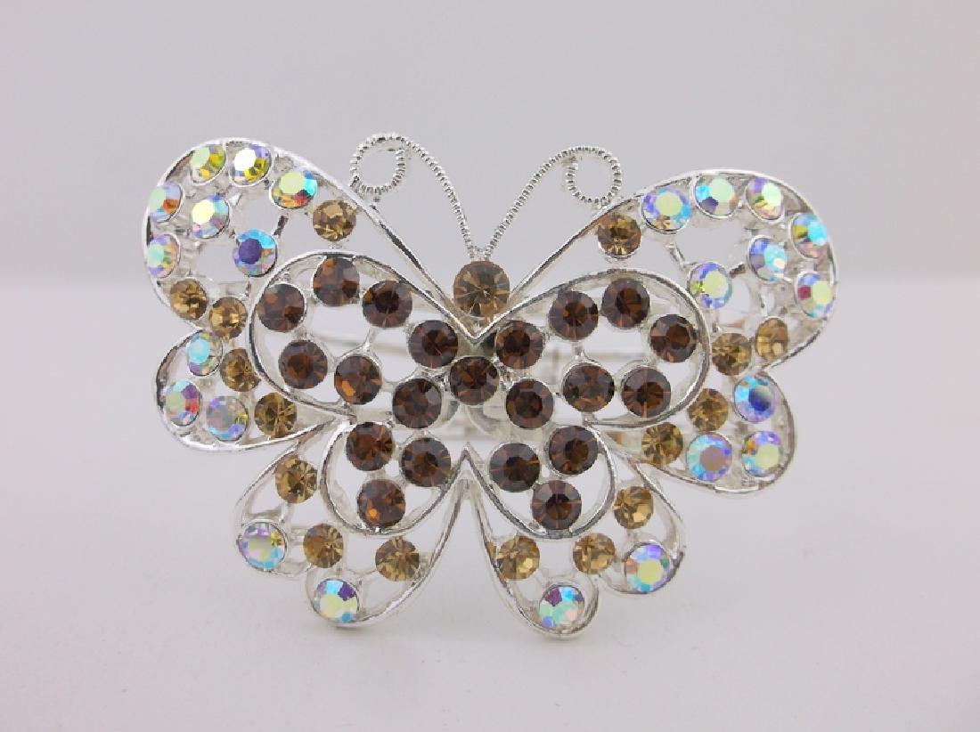 Stunning Rhinestone Butterfly Bracelet large - 2