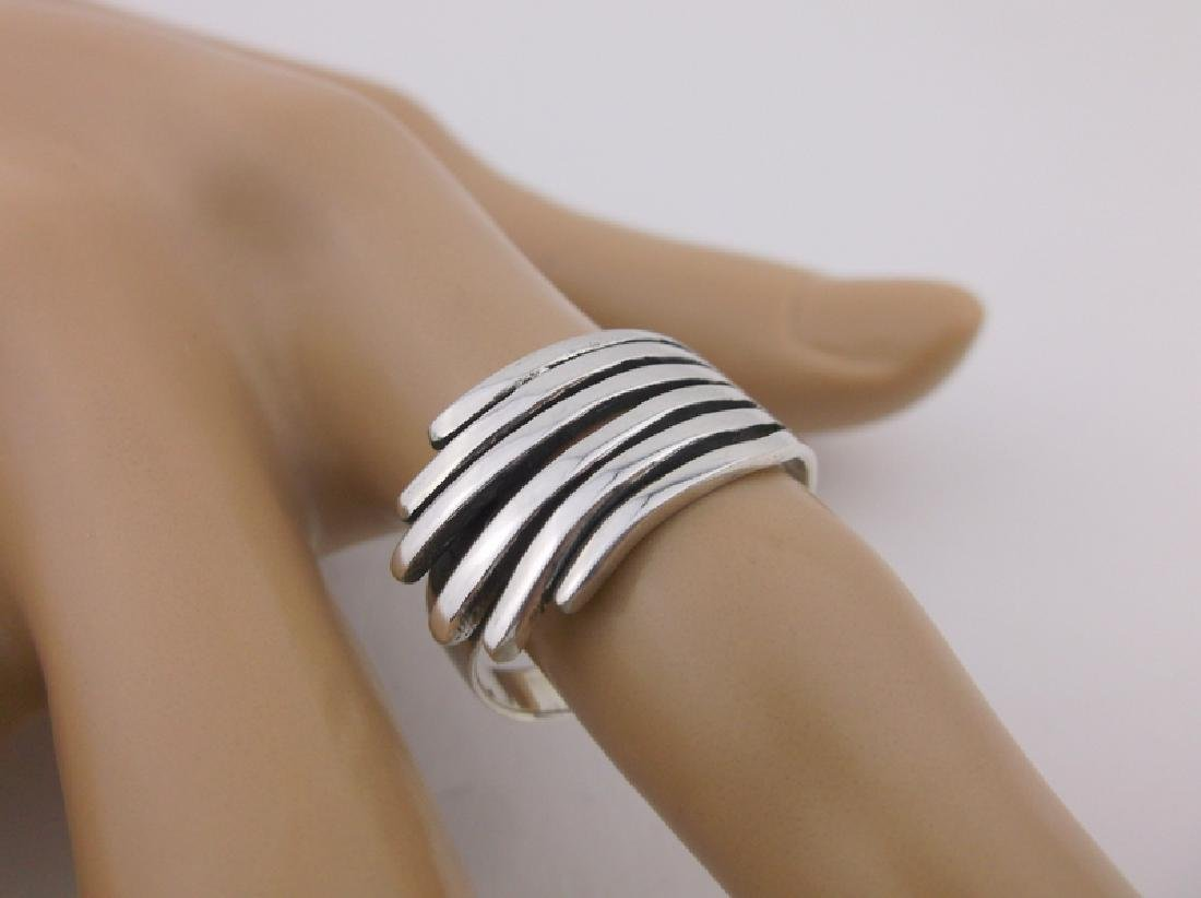 Stunning Sterling Silver Wing Tip Ring 9