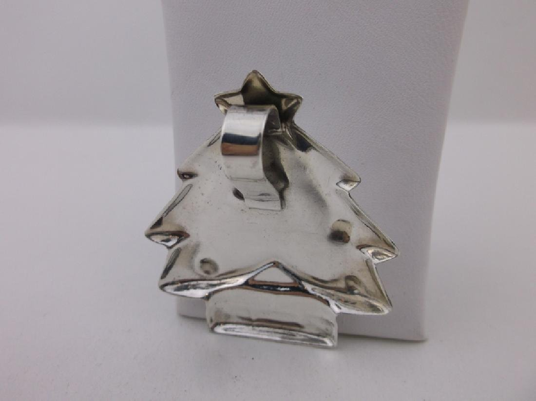 Stunning Large Sterling Silver Christmas Tree Pendant - 2