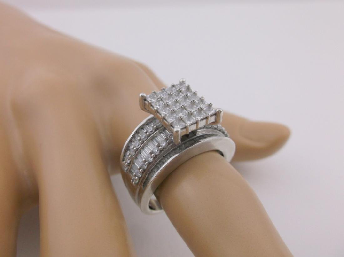 Stunning Large Sterling Silver Cocktail Ring 8