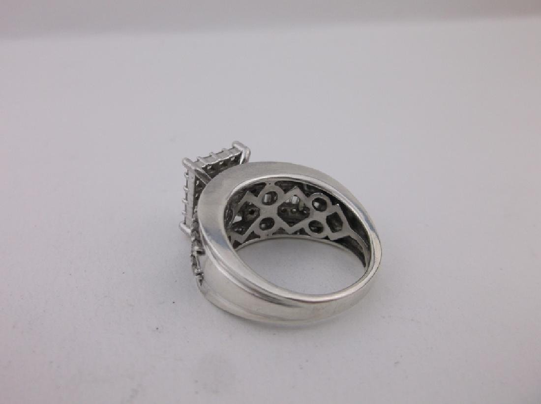 Stunning Large Sterling Silver Cocktail Ring 8 - 2