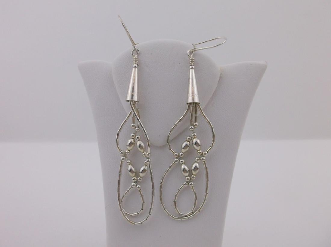 Gorgeous Large Navajo Sterling Silver Earrings