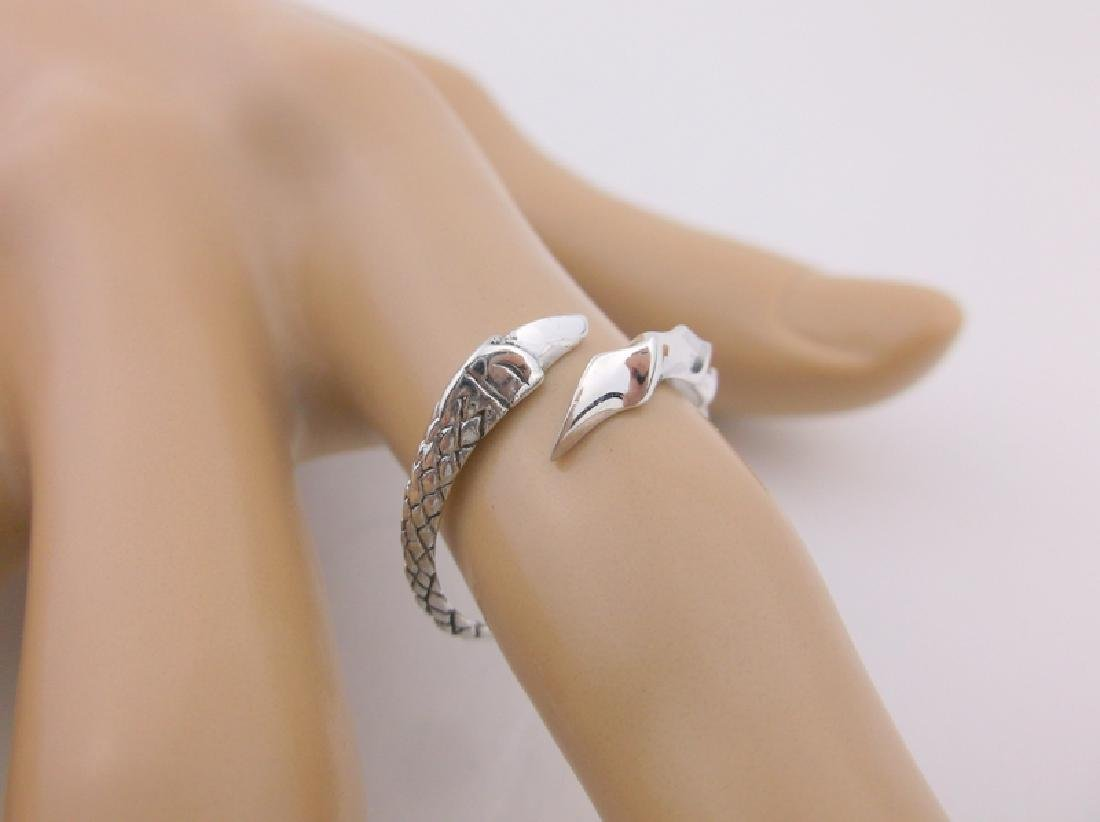 Stunning Sterling Dragons Claw Wrap Ring 7