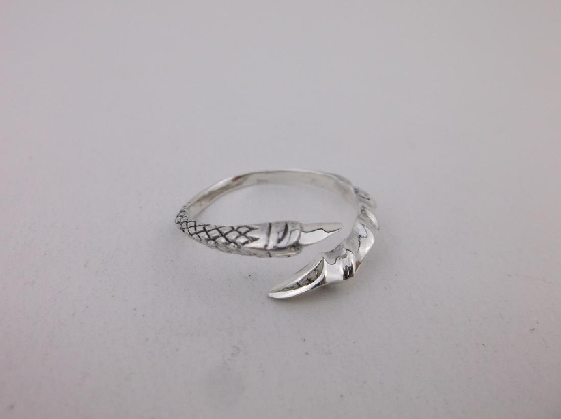 Stunning Sterling Dragons Claw Wrap Ring 7 - 2